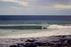 Surfer at Jeffreys Bay