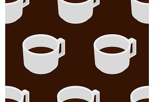 Coffee cup with espresso seamless pattern