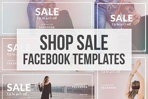Shop SALE - 5 Facebook Cover + Post