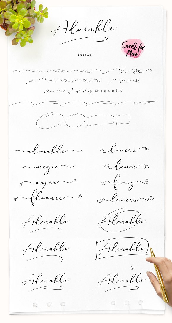 Adorable Handwritten Script Font in Handwriting Fonts - product preview 8