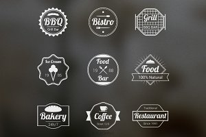 Food Badges Vectors