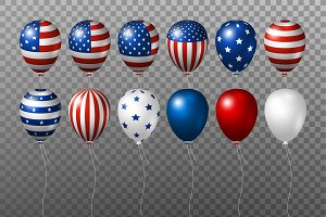 Vector USA balloons design