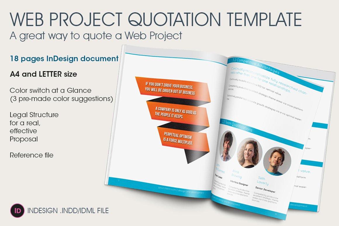 web project quotation template brochure templates. Black Bedroom Furniture Sets. Home Design Ideas