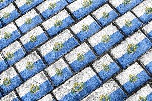 San Marino Flag Urban Grunge Pattern