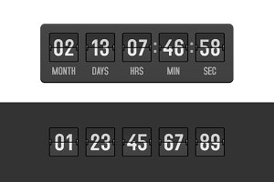 Countdown Clock Timer Set