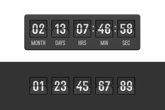 Countdown Clock Timer Set