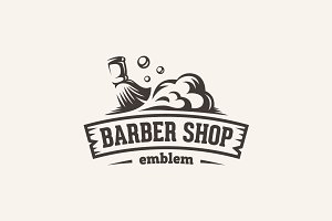 Barber shop — emblem template