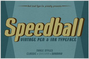 Speedball Pen & Ink Typeface