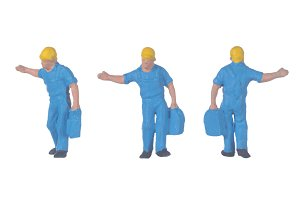 miniature worker people