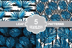 Exotic Leaf Seamless Patterns