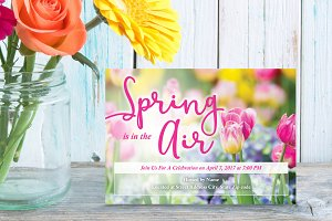 Spring Time Garden Flowers Invite