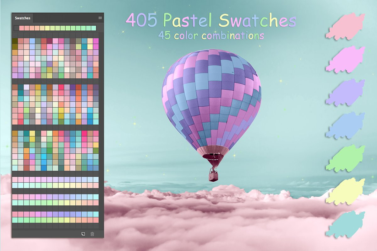 Pastel Colors Swatches Illustrator Add Ons Creative Market