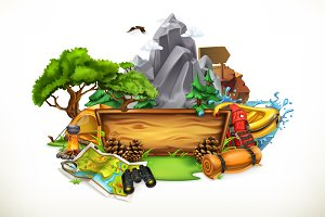 Camping and adventure, vector
