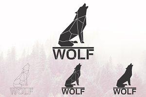 Wolf logo set