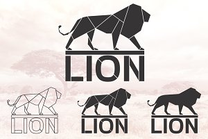 Lion logo set