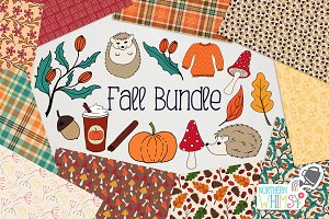 Fall Illustration & Pattern Bundle