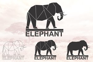 Elephant logo set