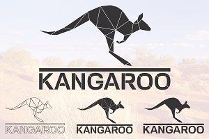 Kangaroo logo set
