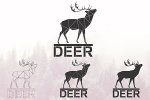 Deer logo set