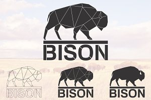 Bison logo set