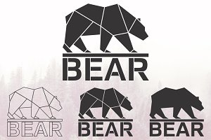 Bear logo set