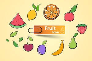 Set fruit icon.