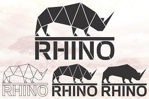 Rhino logo set