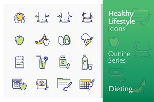 Healthy Lifestyle - Dieting Icons