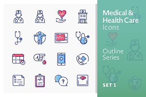Medical Icons Set 1 - Outline Series