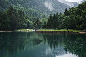 Zavrsnica lake on a foggy day
