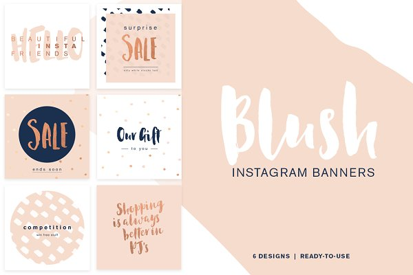 Sale Banners Instagram - Blush