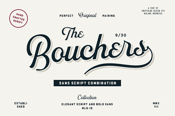 Bouchers script 20 20 off script fonts creative market fandeluxe Choice Image