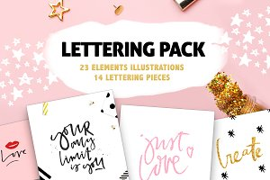 Lettering diy pack