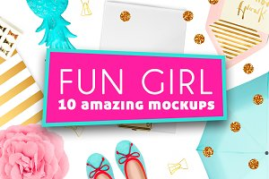 10 Fun Girl Mockups
