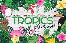 Tropics Forever! Vector set