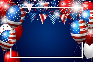 Vector USA balloon background