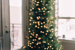 Out of focus Christmas tree