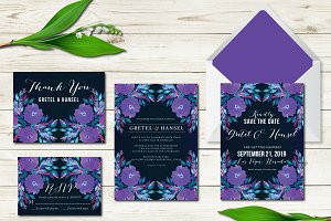 Wedding Invitation Suite Flowers