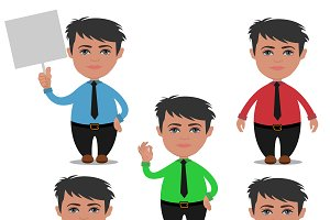 businessman character, cartoon