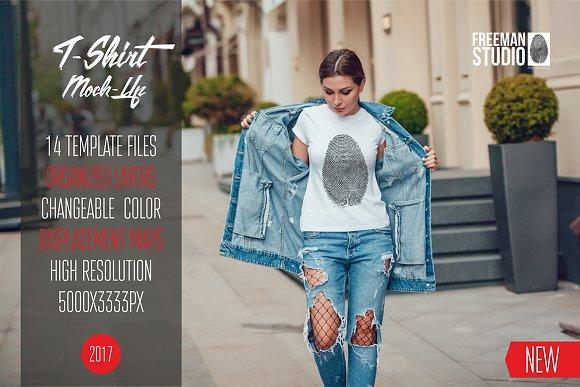 Free T-Shirt Mock-Up Vol.8 2017