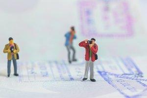 photographer on passport book