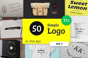 50 Simple Logo