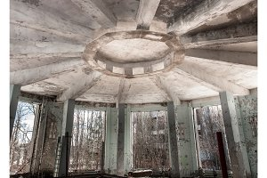 Abandoned industrial architecture