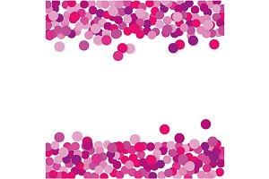 Pink confetti frame. jpg+eps