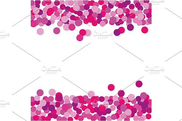 Pink Confetti Frame Jpg Eps