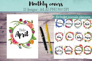 Monthly Covers for Planners