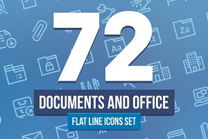 Document and Office Line Icons Set