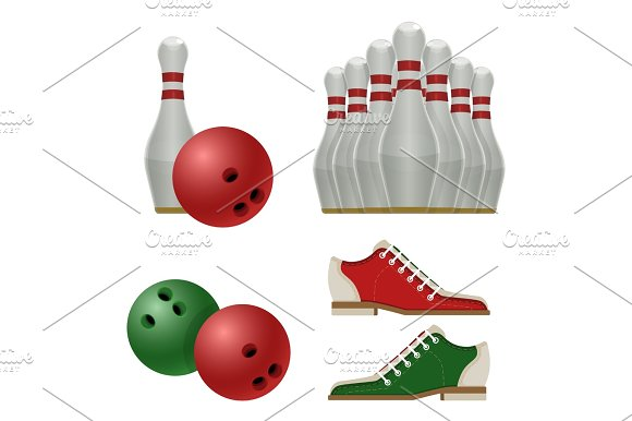 Accessories For Bowling Play Balls Pins Or Skittles Shoes
