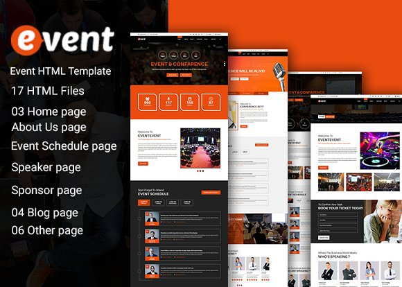 Event Html 5 Template ~ HTML/CSS Themes ~ Creative Market