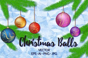 Christmas Balls - Vector Collection